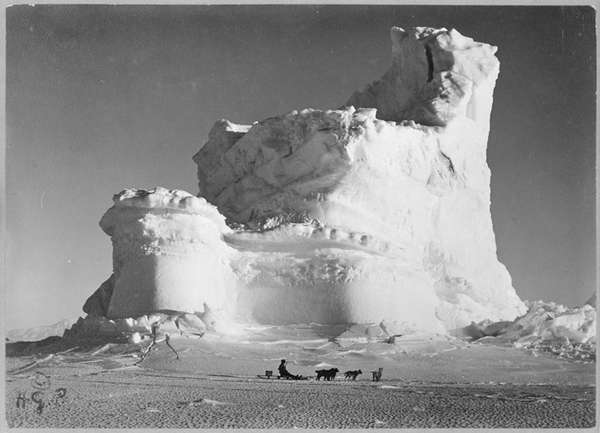 The Castle berg, a weathered iceberg photographed during