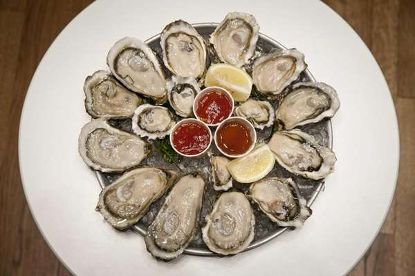 Fresh oysters are served at the famous Oyster