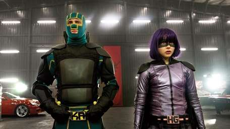 Young masked hero Kick-Ass (Aaron Taylor-Johnson) and the