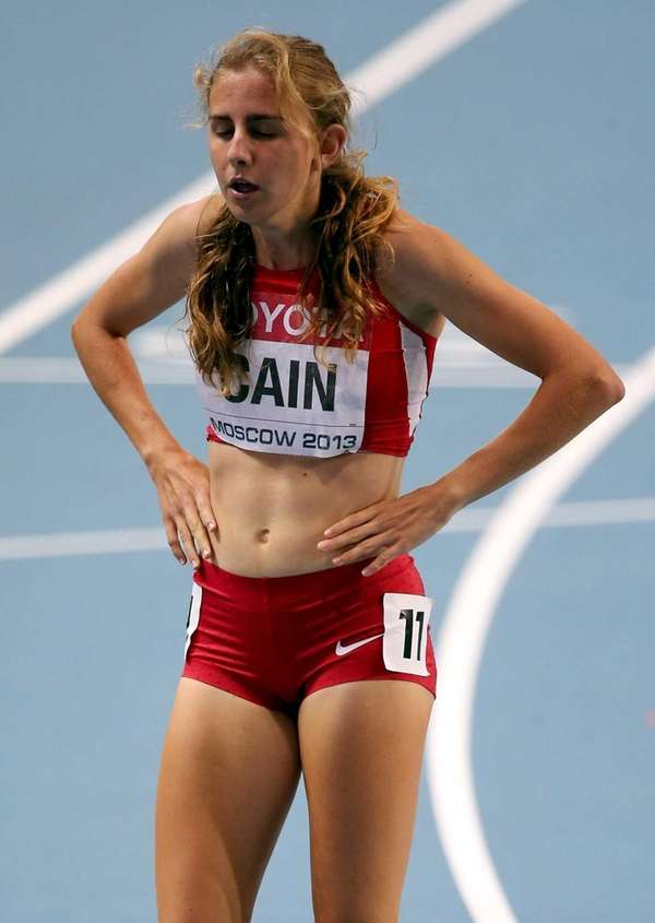 Mary Cain of the United States competes in