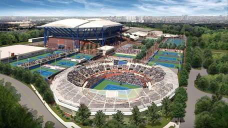 A handout rendering of the USTA's planned improvements