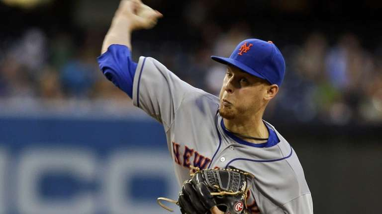 Mets starting pitcher Zack Wheeler works against the