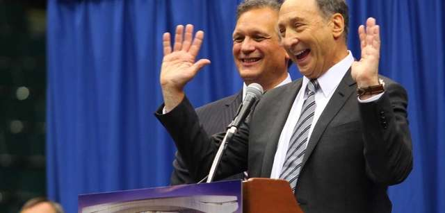 Nassau County Executive Edward Mangano and Bruce Ratner,