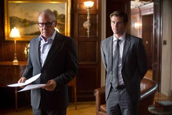 From left, Harrison Ford and Liam Hemsworth star