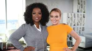 Oprah Winfrey's interview with actress Lindsay Lohan aired