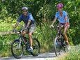 President Barack Obama and his daughter Malia ride