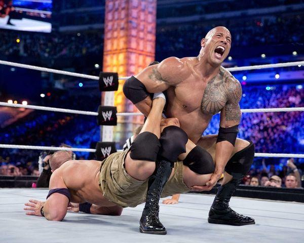 WWE Champion The Rock attempts to make John