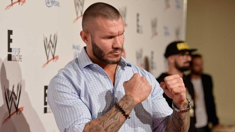 WWE wrestler Randy Orton attends WWE & E!