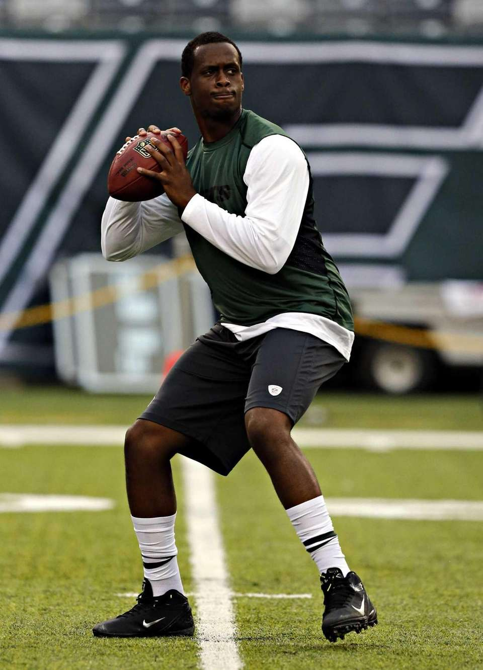 Jets quarterback Geno Smith, who was not scheduled