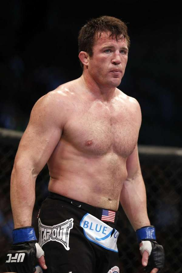 Chael Sonnen looks on after his win against