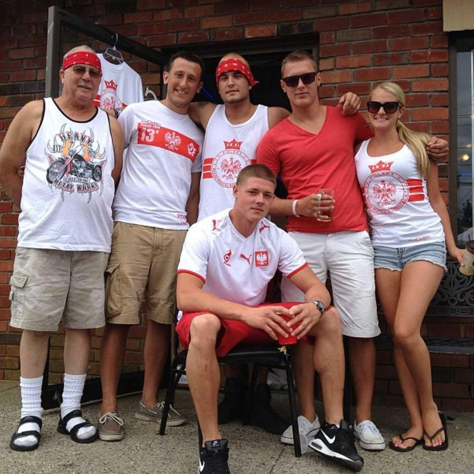 Polish Town residents gather together to celebrate at