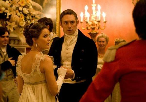 "Keri Russell and JJ Feild in ""Austenland."""