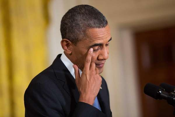 President Barack Obama during a news conference at