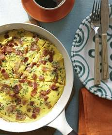 The bacon and egg frittata recipe was originally