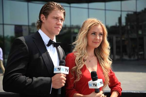 New York Islander Matt Martin and BCTV host