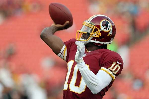 Quarterback Robert Griffin III of the Washington Redskins