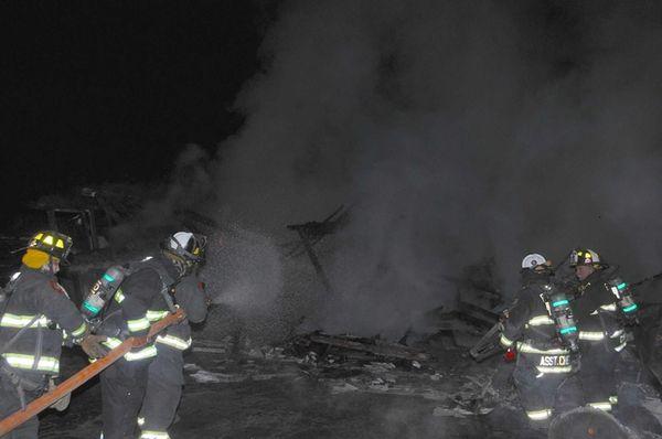 The East Farmingdale Fire Company responds to a