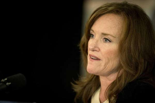 Nassau County District Attorney Kathleen Rice speaks at Hofstra University Club. (July 2, 2013)