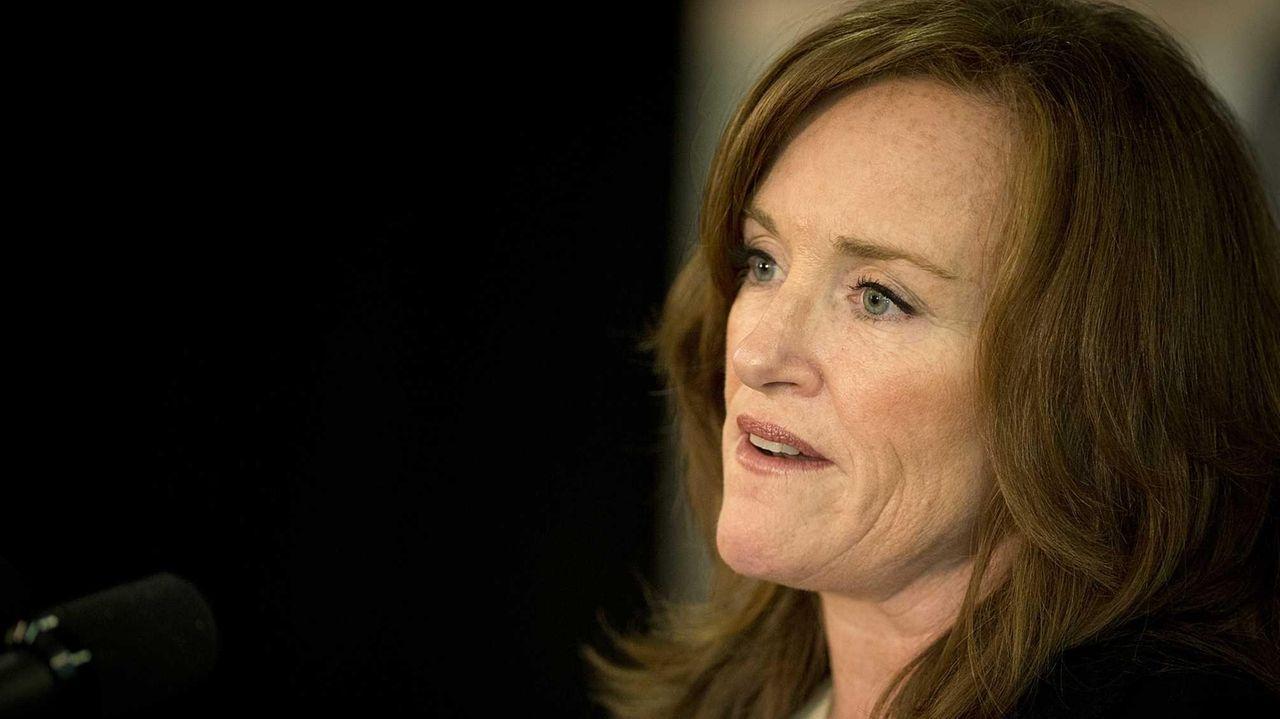 Nassau County District Attorney Kathleen Rice speaks at