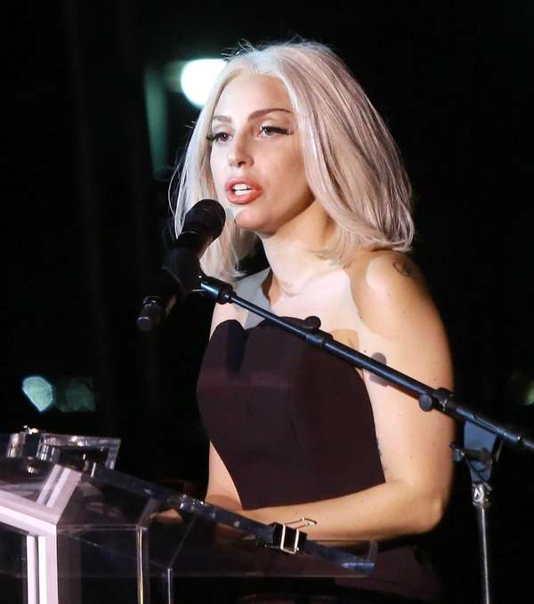 Lady Gaga attends The Rally during NYC Pride