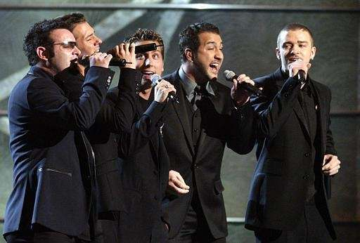 'NSync performs hits from the Bee Gees during
