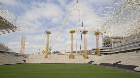 A view of the Arena Corinthians construction site,