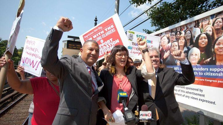 New York State Assemblyman Phil Ramos, Karina Claudio,