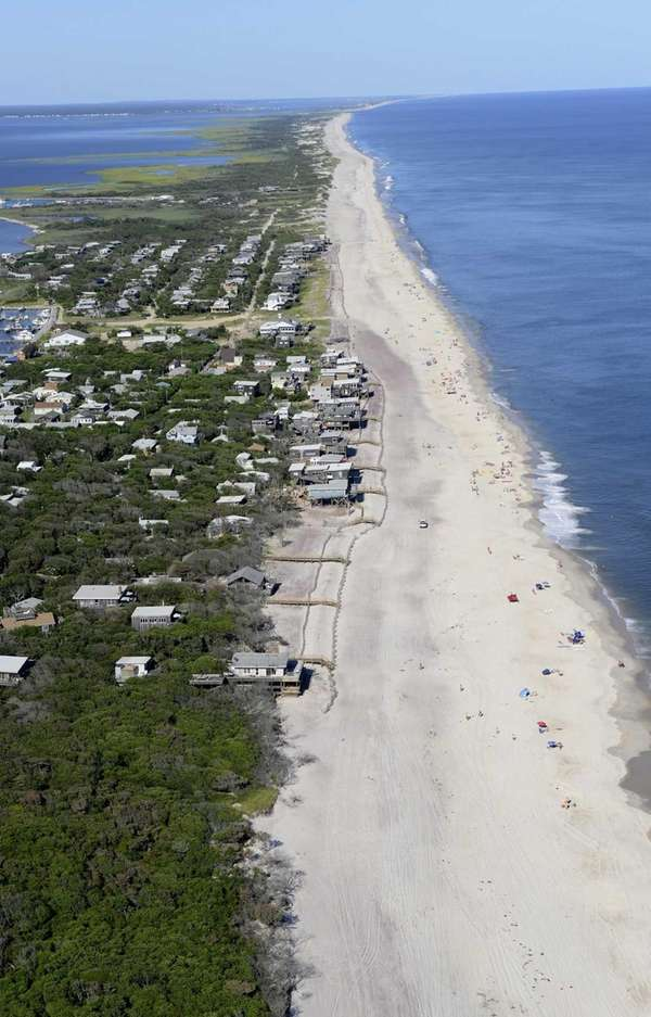 Davis Park, Fire Island. This photo looks east