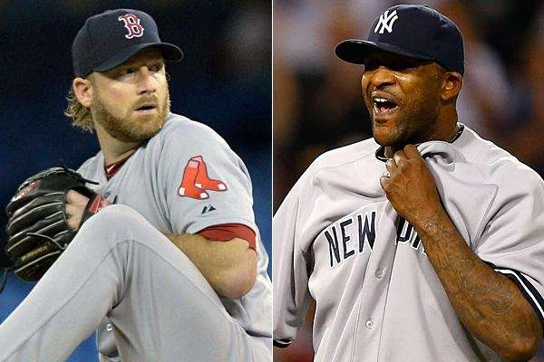 The punishment for Red Sox Ryan Dempster, left,
