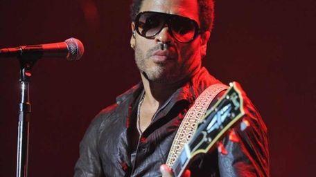 Singer/songwriter Lenny Kravitz, shown here playing Terminal 5