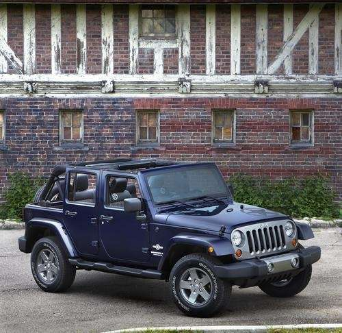 The top comes off the 2012 Jeep Wrangler