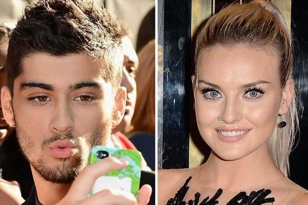 One Direction's Zayn Malik and Perrie Edwards of