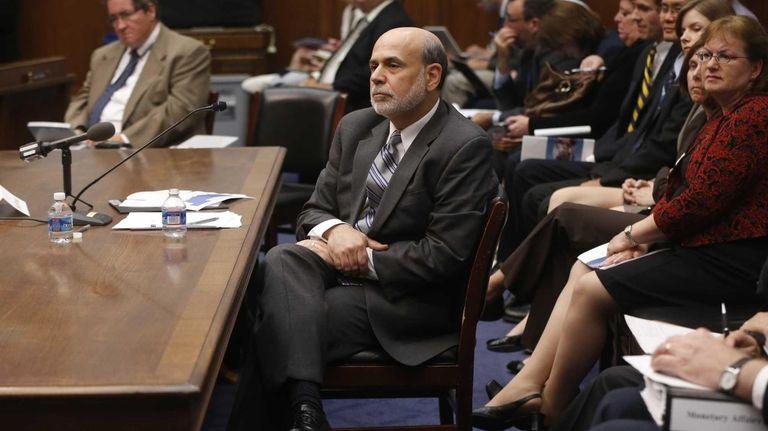Federal Reserve Chairman Ben Bernanke testifies before Congress