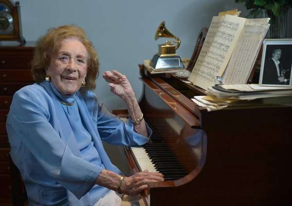 Jazz great Marian McPartland, 95, at the piano