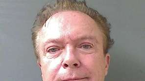 David Cassidy's mug shot from the Schodack Police