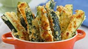 Oven-baked zucchini