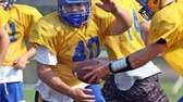 East Meadow's Billy Andrle takes a handoff during