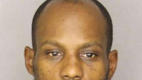 Rapper DMX in a police booking photo after