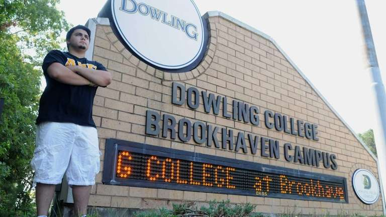Thomas Richter, a student at the Brookhaven Dowling