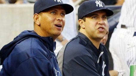 Alex Rodriguez, left, and Mark Teixeira of the