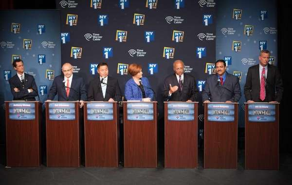 (L-R) Democratic primary candidates for Mayor of New