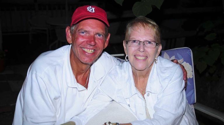 John Grega and his mother Marion Grega enjoy
