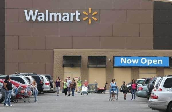 Customers shop at a Walmart store in Chicago.