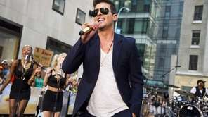 Robin Thicke, who is up for four VMAs,