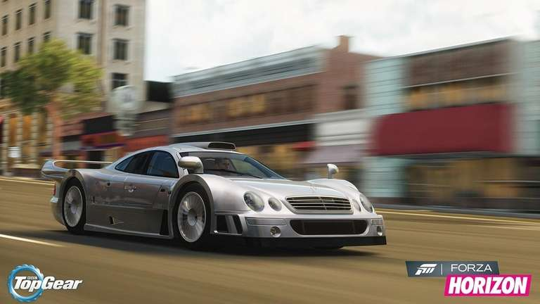 A Mercedes-Benz sports car is featured in Microsoft's