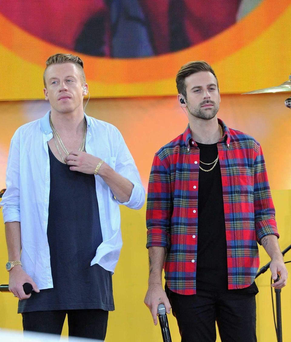 Macklemore & Lewis perform at Rumsey Playfield in