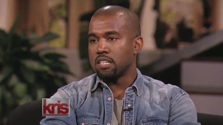 Kanye West talks to girlfriend Kim Kardashian's mother,