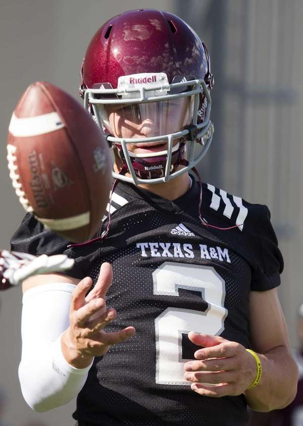 Texas A&M quarterback and Heisman Trophy winner Johnny