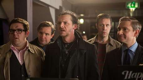 From left, Nick Frost as Andy, Eddie Marsan
