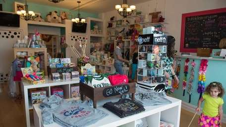 Bubble, a kids store in Babylon, carries T-shirts,